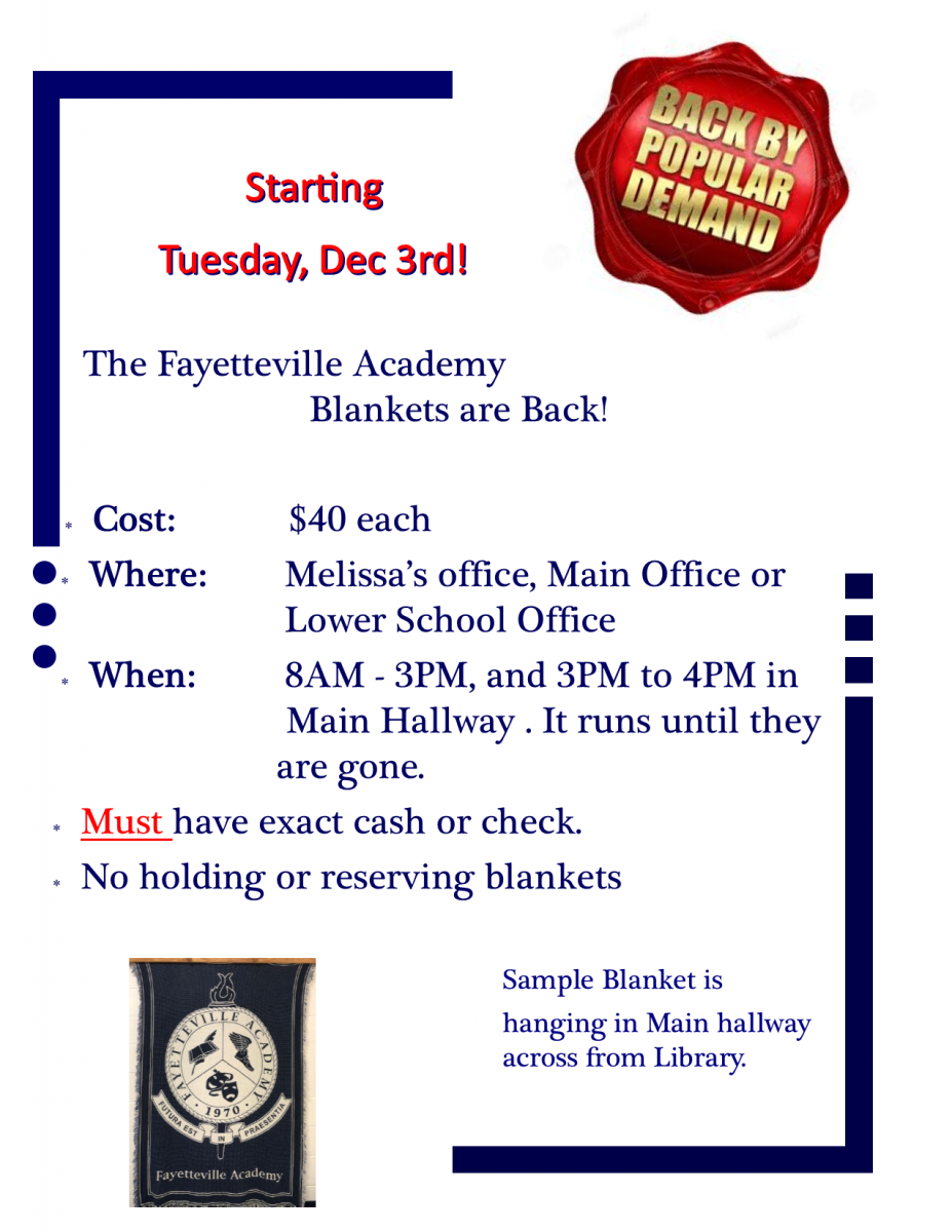 Academy Blankets are Back!
