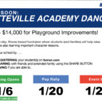 Graphic with information regarding the Dancefit fundraiser