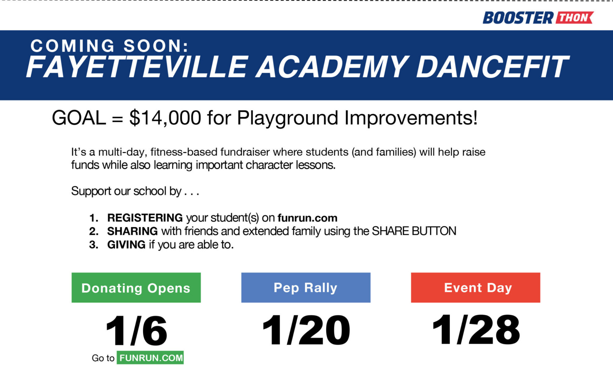 Fayetteville Academy Dance Fit Fundraiser