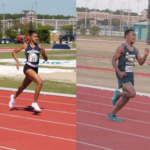 FA Track and Field Runners - man and woman