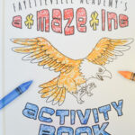 Fayetteville Academy's Amazing Activity Book with Eagle to color and crayons