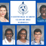 5 FA students Class of 2022 Marshals